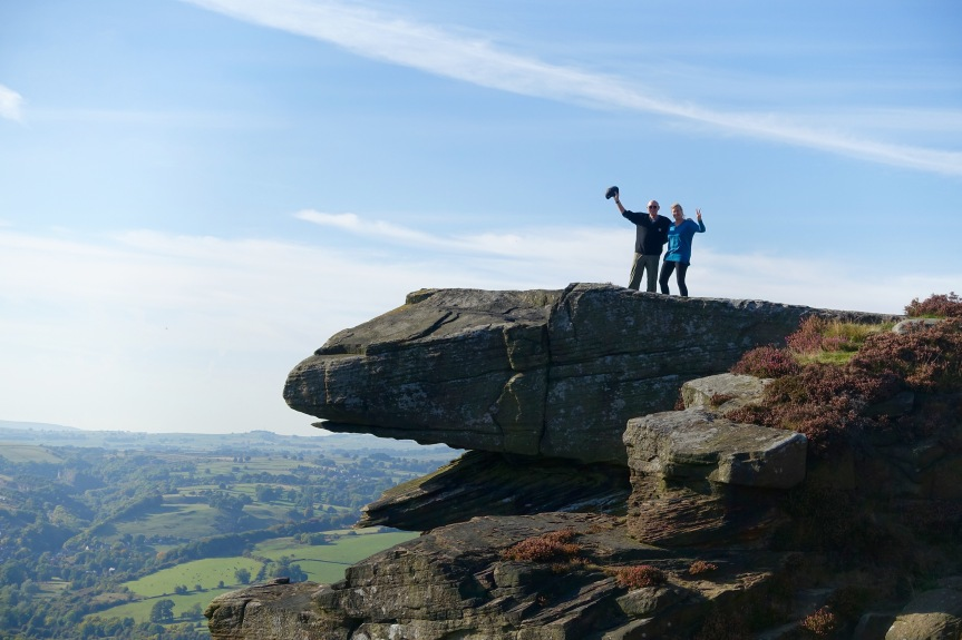 A look at what's to come: Hiking in the Peak District.