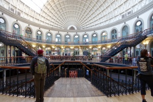 The Corn Exchange in Leeds is now filled with shops.