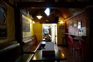 Inside the Eagle and Child pub.
