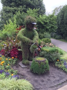 This gardener has a very green thumb.