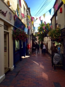 The Lanes in Brighton. A warren of cobbled streets and hanging baskets and hundreds of little shops. (Photo by Kathy Triesch-Saul)