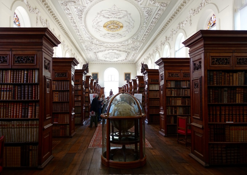 The Upper Library at Queens College, purported to be one of the best rooms at Oxford.