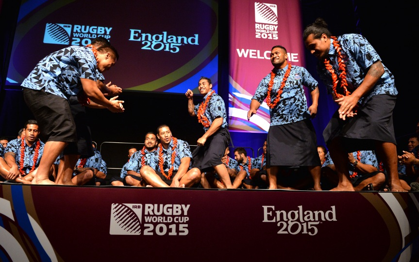 The Samoa performs at the welcoming ceremony at Brighton Dome Friday.   (Photo by Anthony Harvey/Getty Images for ER2015)