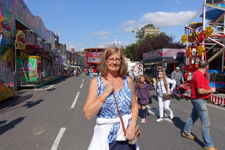 Kathy at the St. Giles Fair.