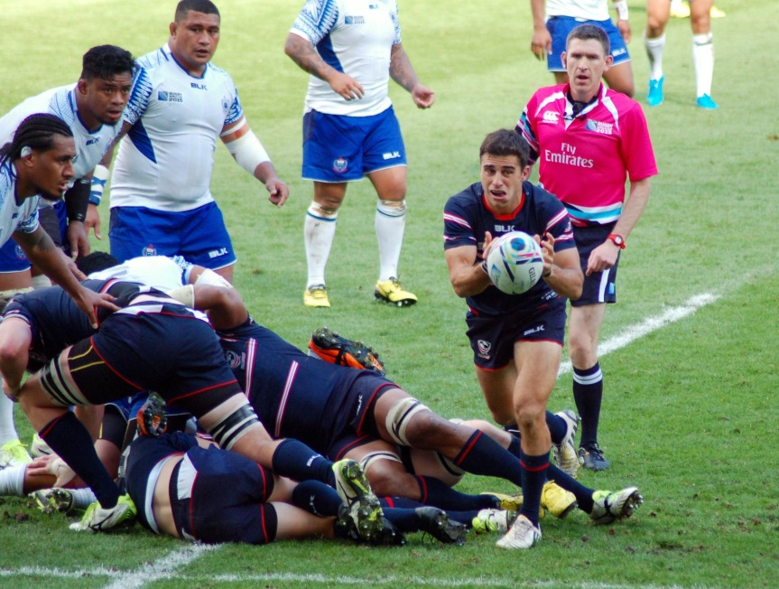 U.S. in action against Samoa.