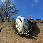 Even castles are not safe from ruggers with balls during the 2015 Rugby World Cup.