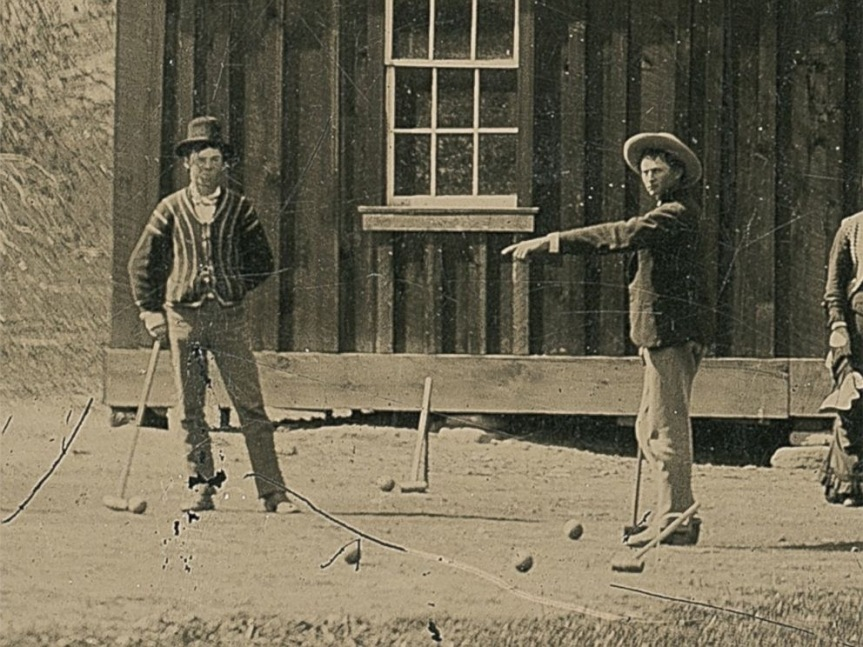 Billy the Kid, a wicket shooter on the croquet court.