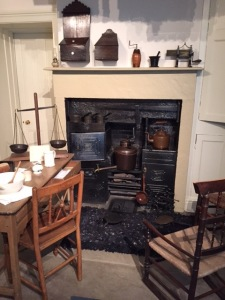 The kitchen contains many objects from when the Bronte family lived in the parsonage.