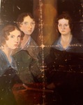 Branwell Bronte painted this portrait of his sisters, from left, Anne, Emily and Charlotte in about 1834. Originally he included himself between Emily and Charlotte but later painted himself out.