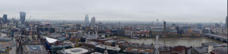 London from the top of St. Paul's Cathedral.