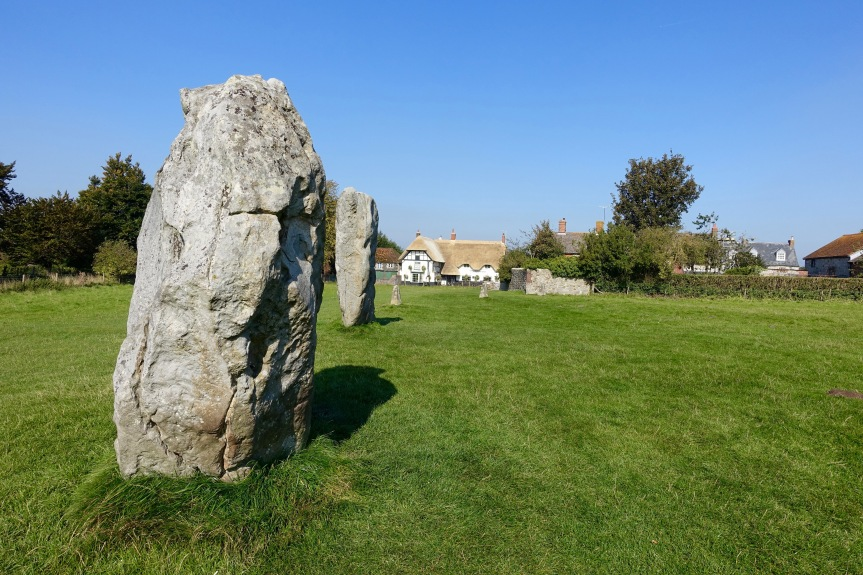 The stones and the village at Avebury.