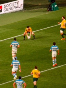 Ashley-Cooper scores his third try of the game.