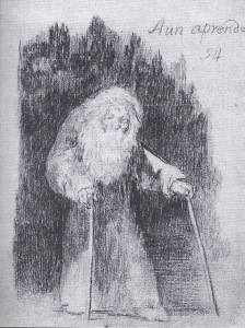 Goya drew this near the end of his life and wrote on it