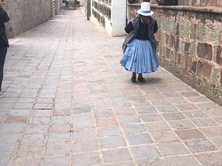 Indian lady walking