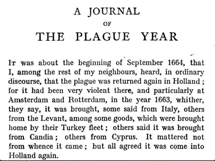 Start of Plague